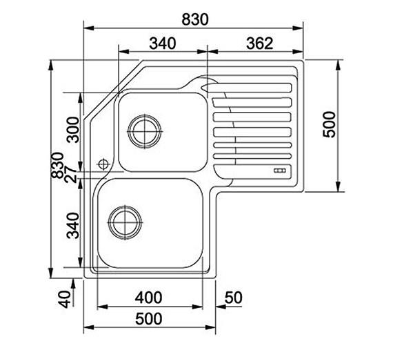 Technical drawing QS-V34303 / 1010001045