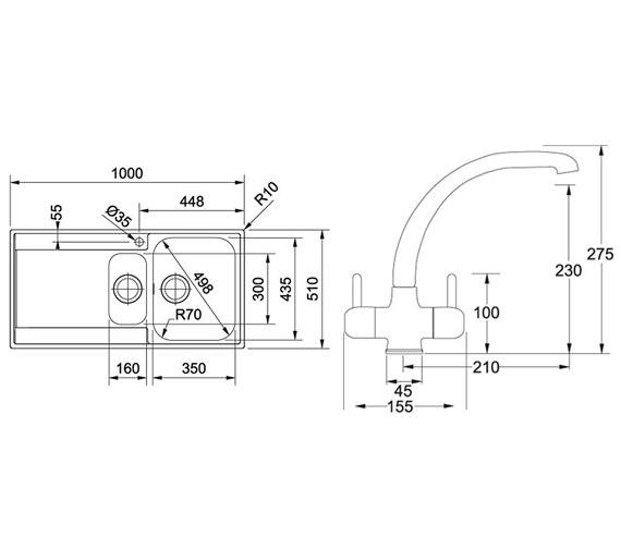 Technical drawing QS-V34304 / 1270251080 BOM