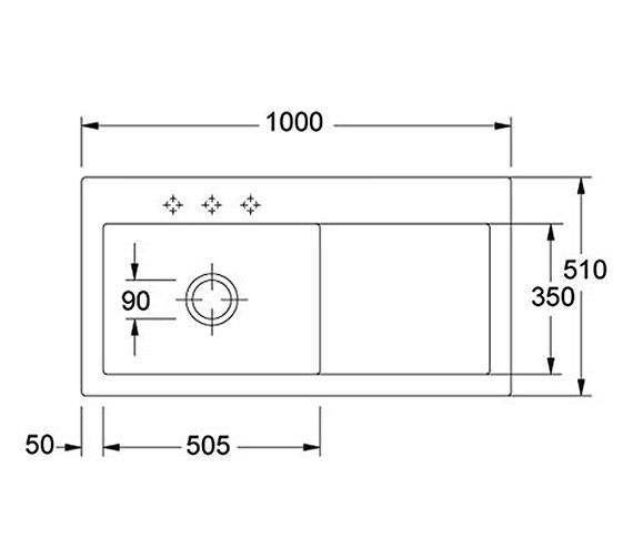 Technical drawing QS-V34328 / 1240050117 BOM