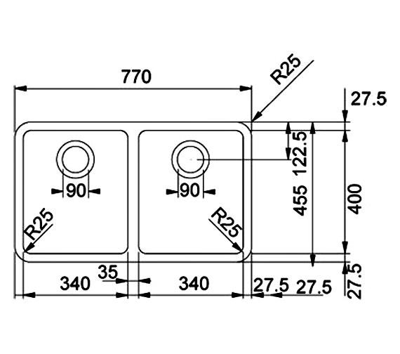 Technical drawing QS-V34361 / 1220061524