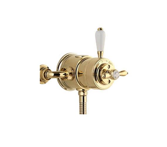 Aqualisa Aquatique Thermostatic Exposed Shower Valve Gold - 500.10.04