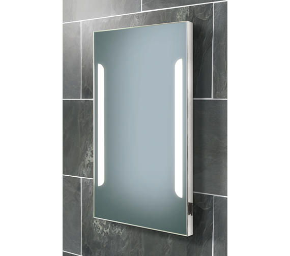 HIB Zenith Back-Lit Steam Free Mirror With Shaver Socket 450 x 800mm