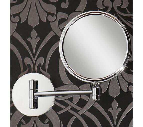 Alternate image of HIB Rico Circular Magnifying Bathroom Mirror - 24300