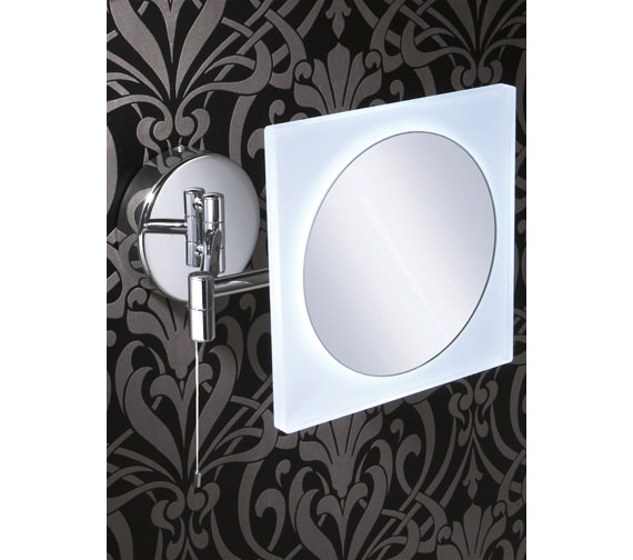 HIB Aries Square LED Illuminated Magnifying Bathroom Mirror -22400