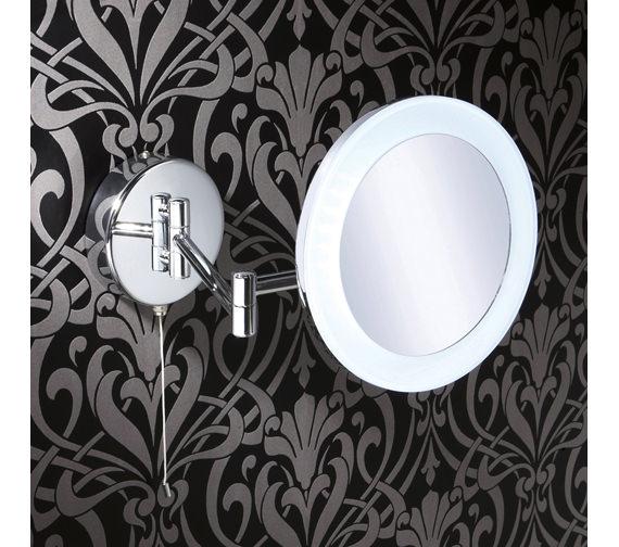 HIB Leo LED Illuminated Magnifying Bathroom Mirror - 22300