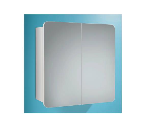 HIB Lanzo Double Door Bathroom Mirrored Cabinet 630 x 570mm