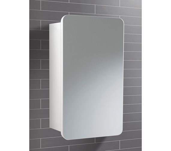 HIB Montana Single Door Bathroom Mirrored Cabinet 350 x 570mm