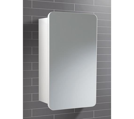 HIB Montana Single Door Bathroom Mirrored Cabinet 350 x 570mm