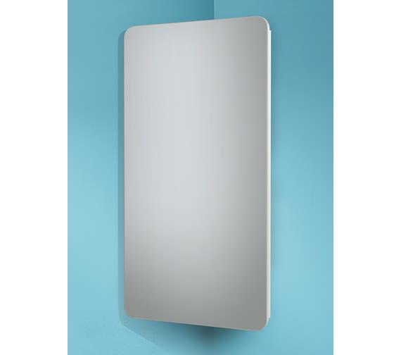 HIB Turin Corner Mirrored Cabinet 300 x 600mm - 9101300