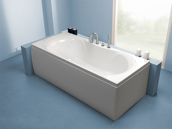 Additional image of Carron Arc Duo Double Ended Acrylic Bath 1700 X 750mm - CABAP17080PA