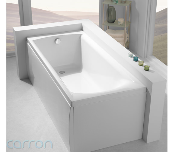 Additional image of Carron Delta Acrylic Single Ended Bath 1700 x 700mm - CABDE175PA