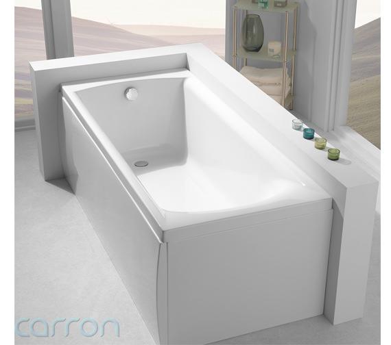 Additional image of Carron Delta Acrylic Single Ended Bath 1700 x 700mm - CABDE175PA