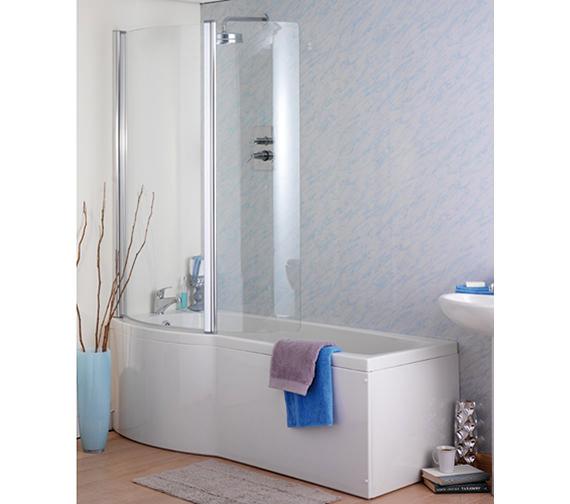 Additional image of Carron Delta Shower Bath 1700 x 800mm - CABDESB175PALH
