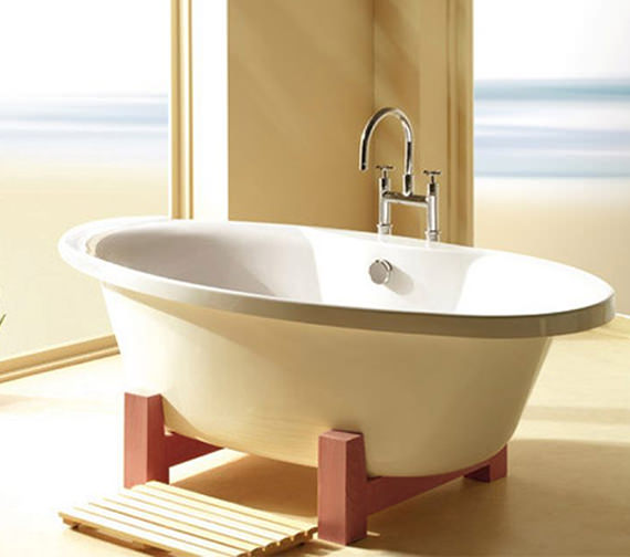 Additional image of Carron Elysee Carronite Freestanding Bath 1800 x 900mm - CABEL18590PA