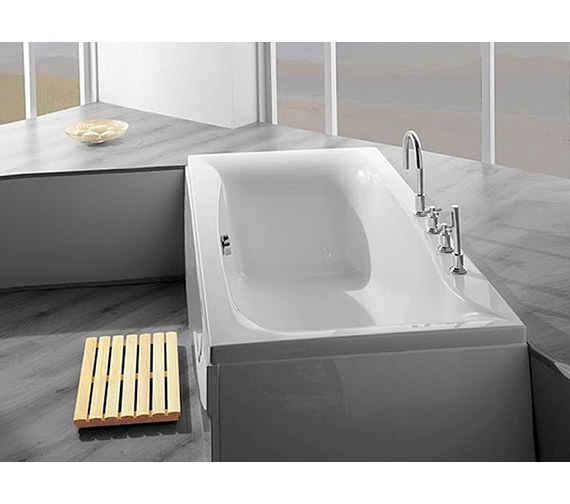 Additional image of Carron Linea Double Ended Acrylic Bath 1900 x 900mm - CABLI19590PA