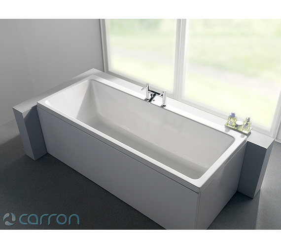 Additional image of Carron Quantum Double Ended Acrylic Bath 1700 x 700mm - CABQUDE175PA
