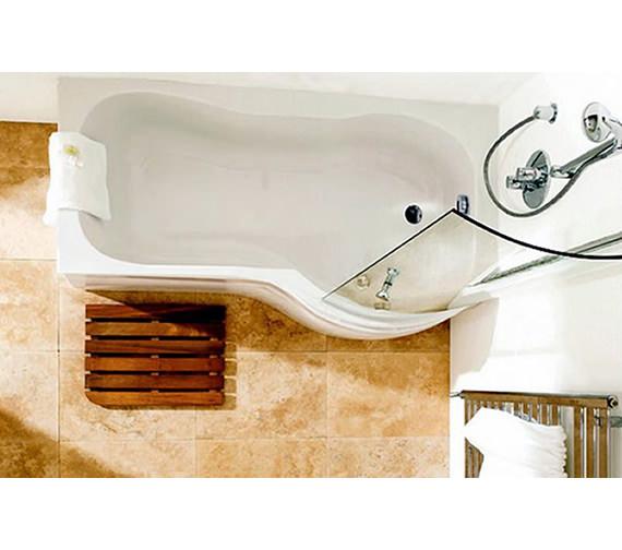 Additional image of Carron Arc 5mm Acrylic Bath 1700 x 700-850mm - Right Hand