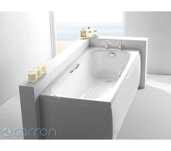 Additional image of Carron Swallow Single Ended Acrylic Bath 1800 x 700mm - CABSW18570TA