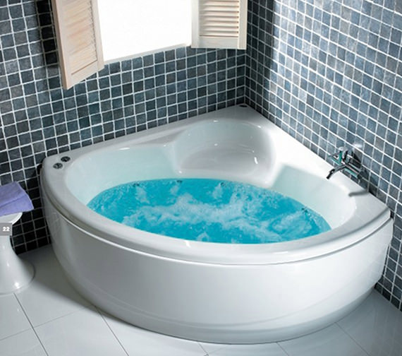 Additional image of Carron Monarch Corner Bath 1300 x 1300mm - CACMO135PA