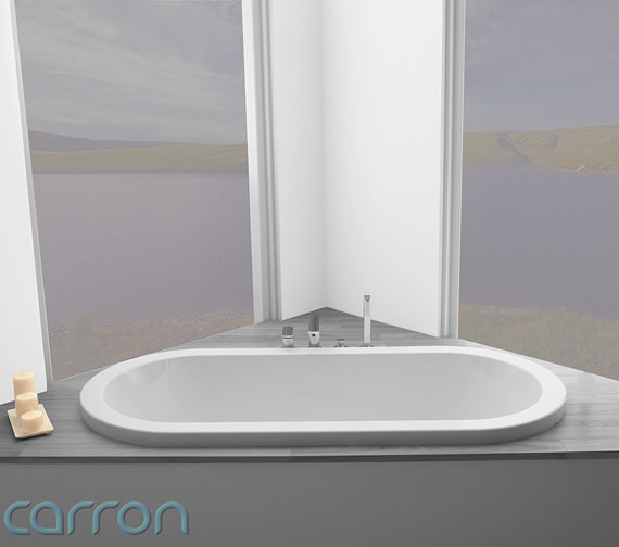 Additional image of Carron Halcyon Oval Inset Double Ended Bath 1750 x800mm - CABHL17580PA