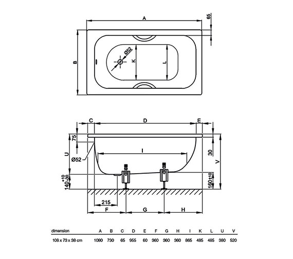 Technical drawing QS-V34603 / 1080 000