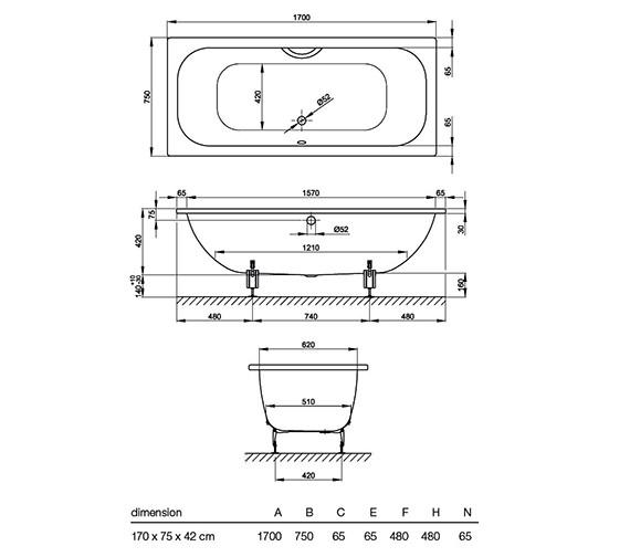 Technical drawing QS-V34604 / 3020 000