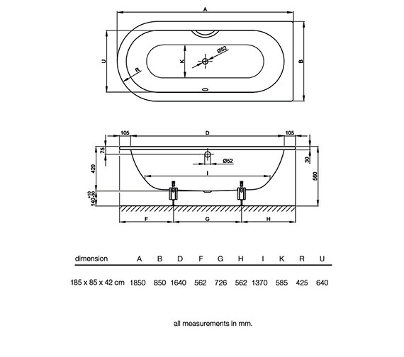 Technical drawing QS-V34606 / BETTE8350