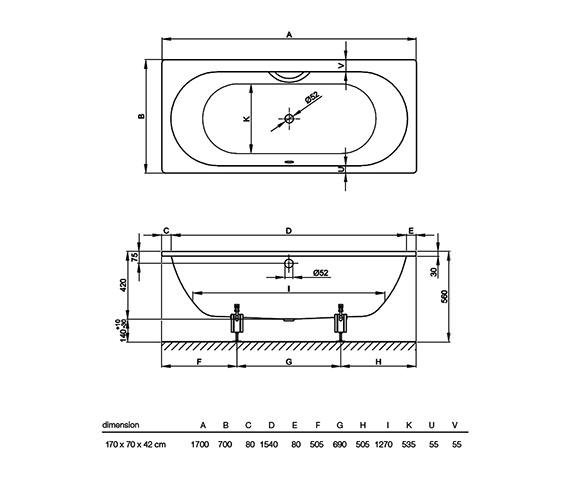 Technical drawing QS-V34617 / 1730 000