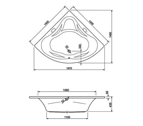 Technical drawing QS-V34624 / 200AMBASS14CWS14