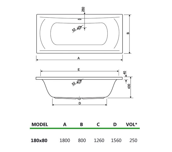 Technical drawing QS-V34631 / 154ARENA1880