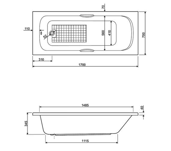 Technical drawing QS-V34642 / 154BUCK1770AQMAX