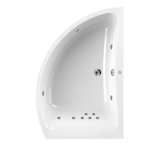 Aquaestil Comet 1500 x 1000mm 11 Jets Left Hand Whirlpool Bath