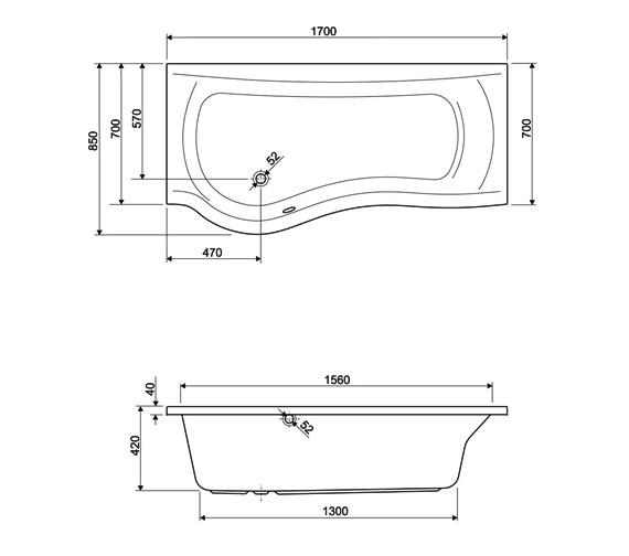 Technical drawing QS-V34655 / 154DAVINCILH17