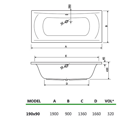Technical drawing QS-V34640 / 200ARENA1990CWS14