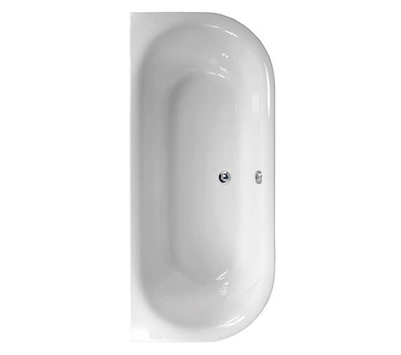 Aquaestil Metauro 1 Back To Wall Bath 1800 x 800mm - 154METAURO11880