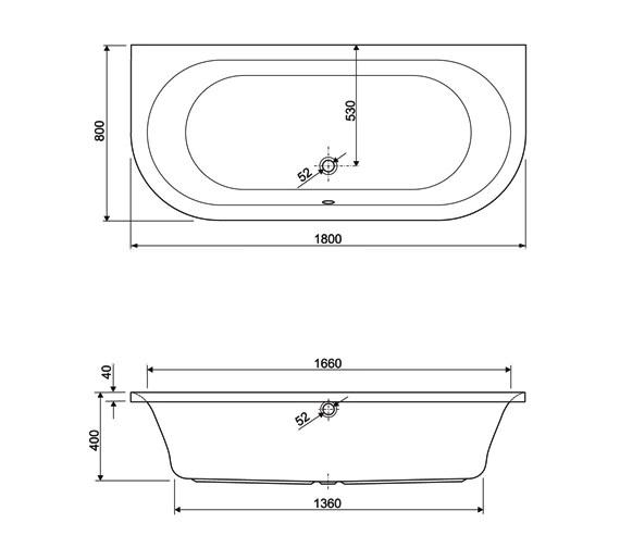 Technical drawing QS-V34662 / 154METAURO11880