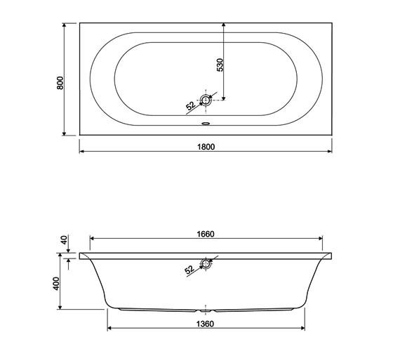 Technical drawing QS-V34670 / 154METAURO31880