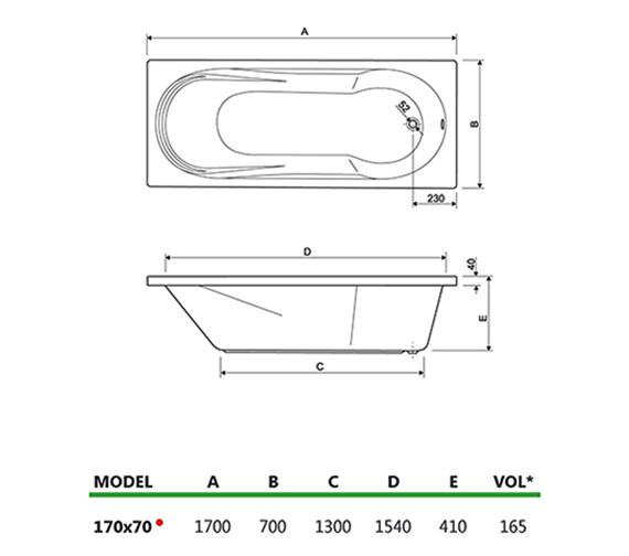 Technical drawing QS-V34678 / 154MODENA1770