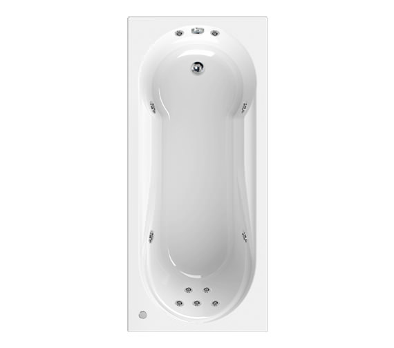 Aquaestil Modena 1800 x 800mm 11 Jets Whirlpool Bath