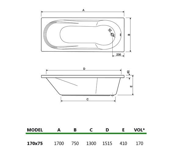 Technical drawing QS-V34682 / 154MODENA1775