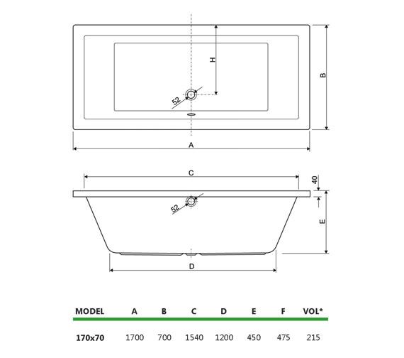 Technical drawing QS-V34693 / 154PLANE1770