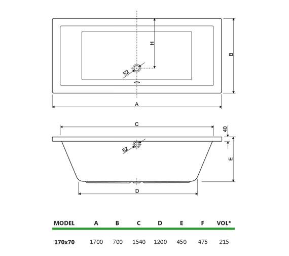 Technical drawing QS-V34694 / 200PLANE1770CWS06