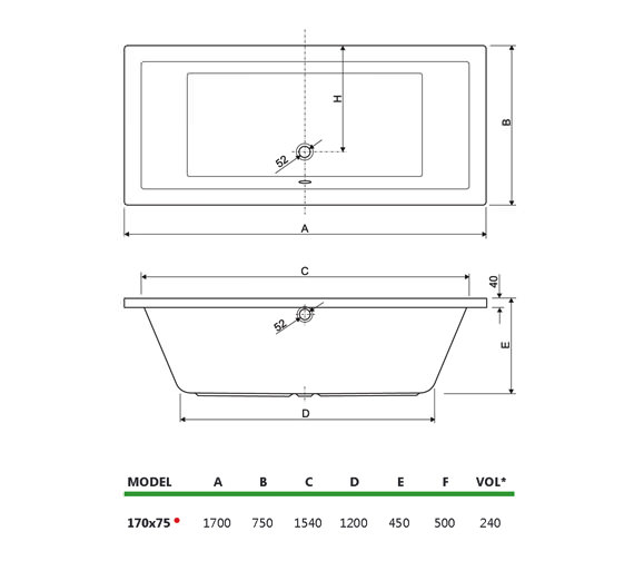 Technical drawing QS-V34698 / 200PLANE1775CWS06