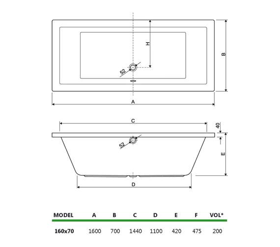 Technical drawing QS-V34700 / 154PLANE1670