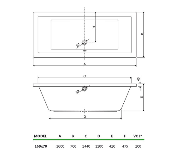 Technical drawing QS-V14150 / 200PLANE1670CWS24