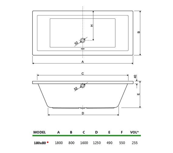 Technical drawing QS-V34706 / 200PLANE1880CWS08