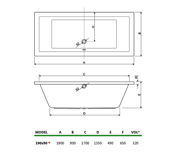 Technical drawing QS-V34709 / 200PLANE1990CWS06