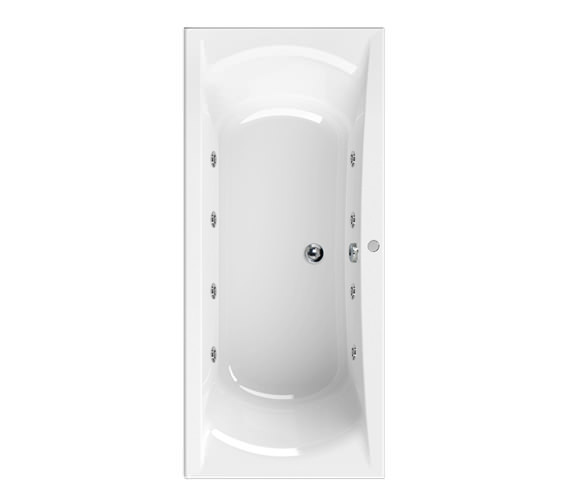 Aquaestil Arena 1700 x 750mm 8 Jets Whirlpool Bath