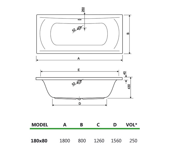 Technical drawing QS-V34731 / 200ARENA1880CWS16