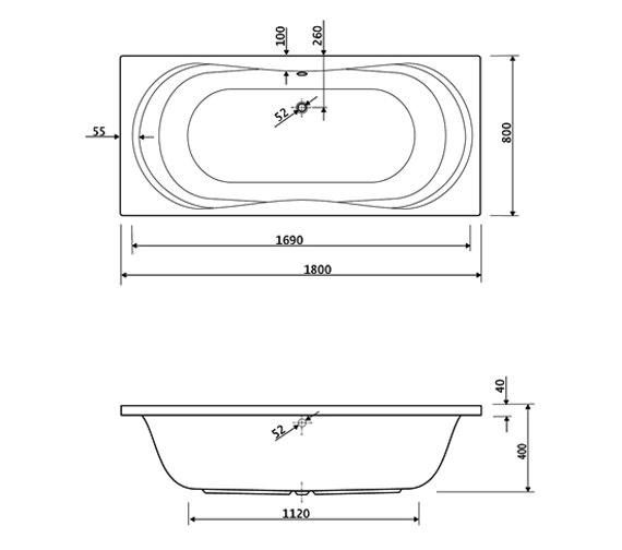 Technical drawing QS-V34734 / 200APOLLO1880CWS24